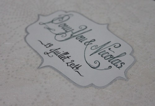 calligraphie livre d'or mariage guest book personalisable